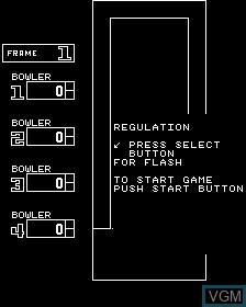 Image de l'ecran titre du jeu 4 Player Bowling Alley sur MAME