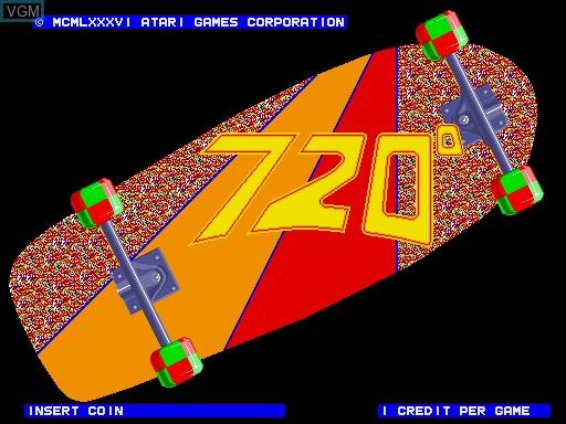 Image de l'ecran titre du jeu 720 Degrees sur MAME