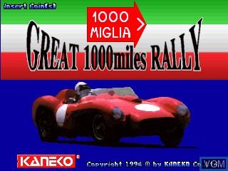 Image de l'ecran titre du jeu 1000 Miglia - Great 1000 Miles Rally sur MAME