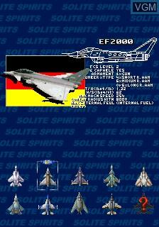 Image du menu du jeu 1945k III sur MAME