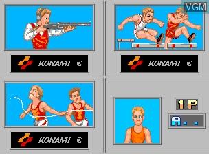 Image du menu du jeu '88 Games sur MAME