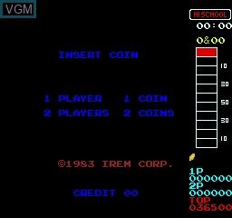 Image du menu du jeu 10 Yard Fight sur MAME