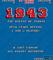 Image du menu du jeu 1943 - The Battle of Midway sur MAME