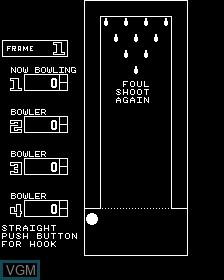 Image du menu du jeu 4 Player Bowling Alley sur MAME