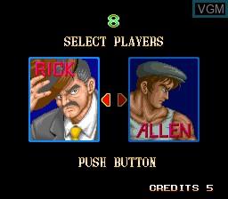 Image du menu du jeu 64th. Street - A Detective Story sur MAME