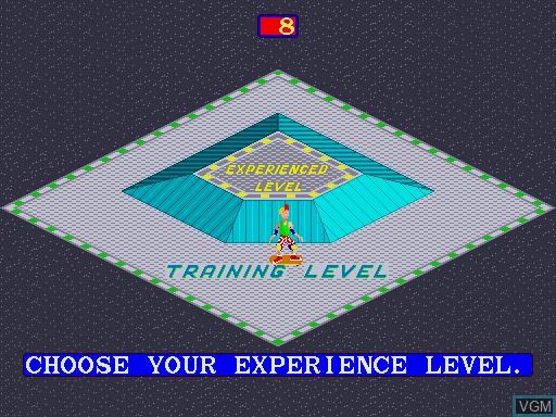 Image du menu du jeu 720 Degrees sur MAME