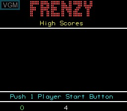 Image du menu du jeu Frenzy sur MAME