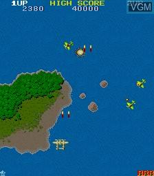 Image in-game du jeu 1942 sur MAME