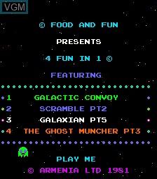 Image in-game du jeu 4 Fun in 1 sur MAME