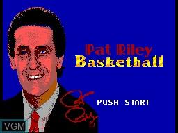 Image de l'ecran titre du jeu Pat Riley Basketball sur Sega Master System