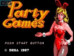 Image de l'ecran titre du jeu Party Games sur Sega Master System