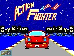 Image de l'ecran titre du jeu Action Fighter sur Sega Master System