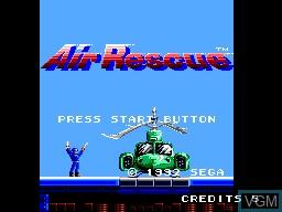 Image de l'ecran titre du jeu Air Rescue sur Sega Master System