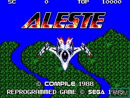 Image de l'ecran titre du jeu Aleste sur Sega Master System