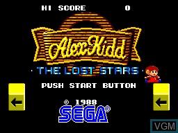 Image de l'ecran titre du jeu Alex Kidd - The Lost Stars sur Sega Master System