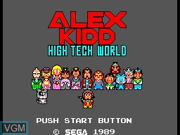 Image de l'ecran titre du jeu Alex Kidd in High Tech World sur Sega Master System