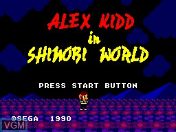Image de l'ecran titre du jeu Alex Kidd in Shinobi World sur Sega Master System