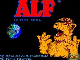 Image de l'ecran titre du jeu ALF sur Sega Master System