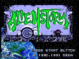 Image de l'ecran titre du jeu Alien Storm sur Sega Master System