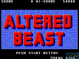 Image de l'ecran titre du jeu Altered Beast sur Sega Master System