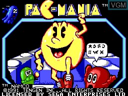 Image de l'ecran titre du jeu Pac-Mania sur Sega Master System