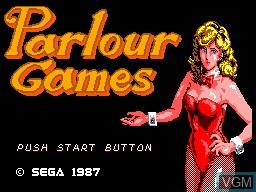 Image de l'ecran titre du jeu Parlour Games sur Sega Master System
