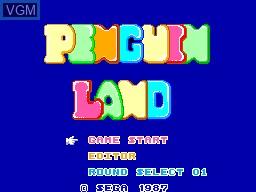 Image de l'ecran titre du jeu Penguin Land sur Sega Master System
