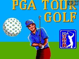 Image de l'ecran titre du jeu PGA Tour Golf sur Sega Master System