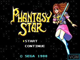 Image de l'ecran titre du jeu Phantasy Star sur Sega Master System