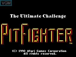 Image de l'ecran titre du jeu Pit Fighter sur Sega Master System