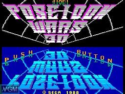 Image de l'ecran titre du jeu Poseidon Wars 3D sur Sega Master System