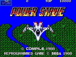 Image de l'ecran titre du jeu Power Strike sur Sega Master System