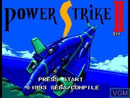 Image de l'ecran titre du jeu Power Strike 2 sur Sega Master System