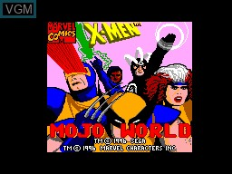 Image de l'ecran titre du jeu X-Men - Mojo World sur Sega Master System