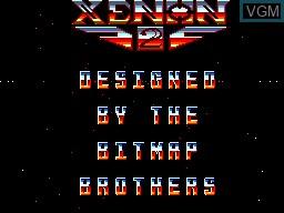 Image de l'ecran titre du jeu Xenon 2 sur Sega Master System