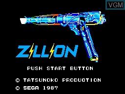 Image de l'ecran titre du jeu Akai Koudan Zillion sur Sega Master System