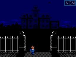 Image du menu du jeu Addams Family, The sur Sega Master System