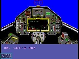 Image du menu du jeu Aerial Assault sur Sega Master System