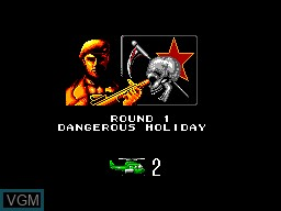 Image du menu du jeu Air Rescue sur Sega Master System