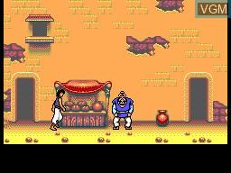 Image du menu du jeu Aladdin sur Sega Master System
