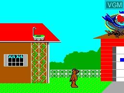 Image du menu du jeu ALF sur Sega Master System