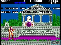 Image du menu du jeu Altered Beast sur Sega Master System