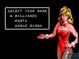 Image du menu du jeu Parlour Games sur Sega Master System