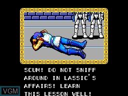 Image du menu du jeu Phantasy Star sur Sega Master System