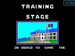 Image du menu du jeu Poseidon Wars 3D sur Sega Master System
