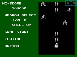 Image du menu du jeu Power Strike 2 sur Sega Master System