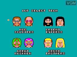 Image du menu du jeu Pro Wrestling sur Sega Master System