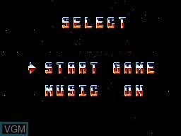 Image du menu du jeu Xenon 2 sur Sega Master System