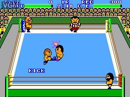 Image in-game du jeu Pro Wrestling sur Sega Master System