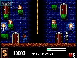 Image in-game du jeu Addams Family, The sur Sega Master System